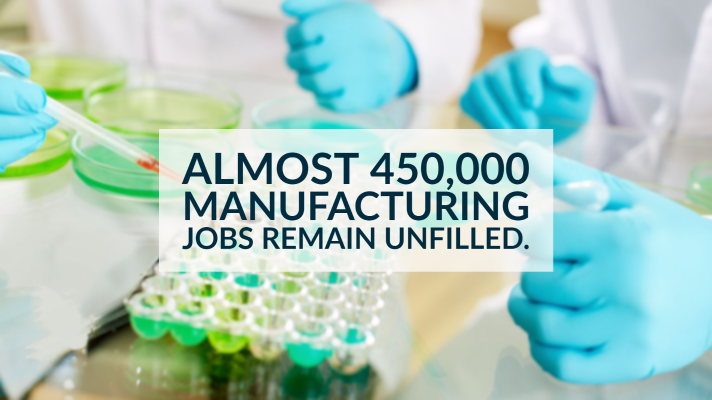 450,000 manufacturing jobs remain unfilled